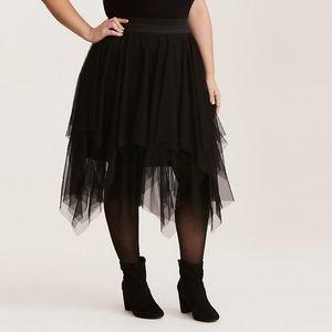 Torrid Layered Tulle Midi Skater Skirt